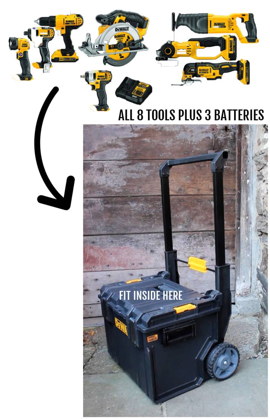 dewalt combo kit with storage box