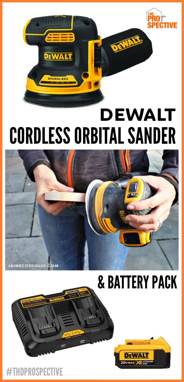 dewalt cordless orbital sander and battery pack