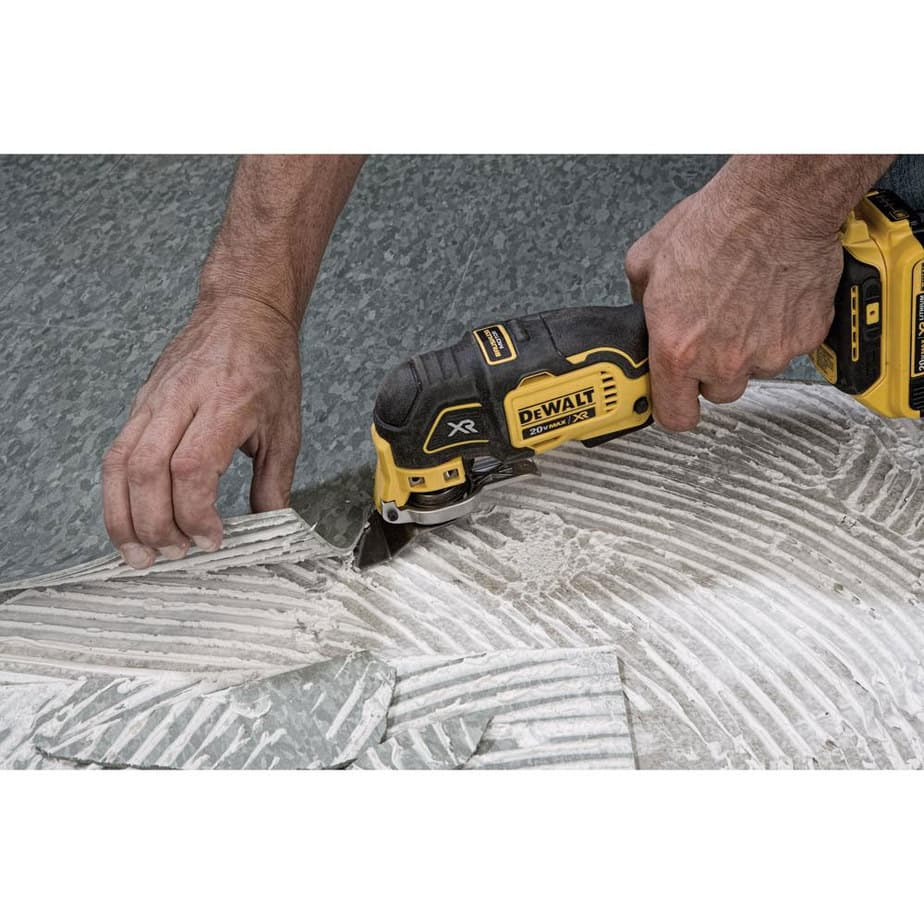 dewalt tool removing linoleum