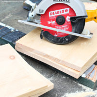 pine board cut with diablo saw blade