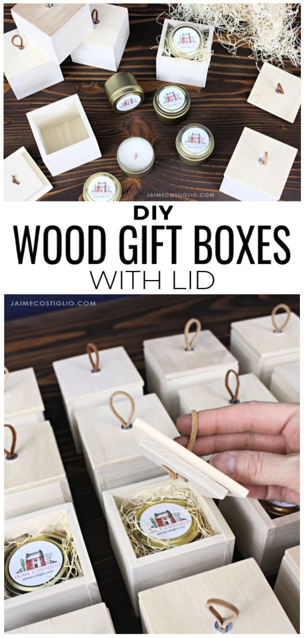 diy small wood gift boxes with lid