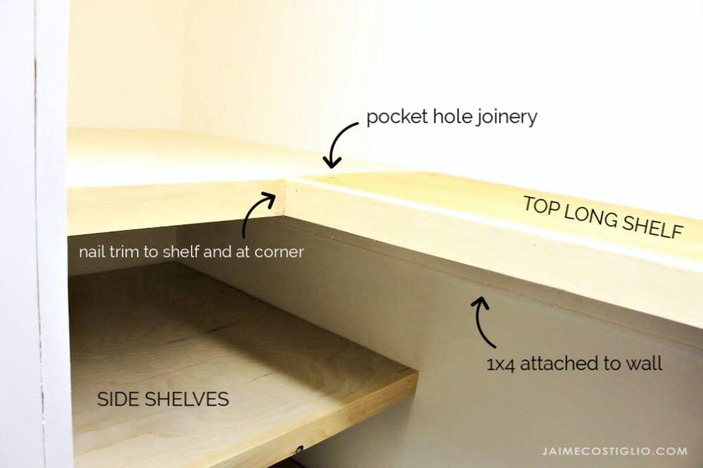 linen closet shelves details