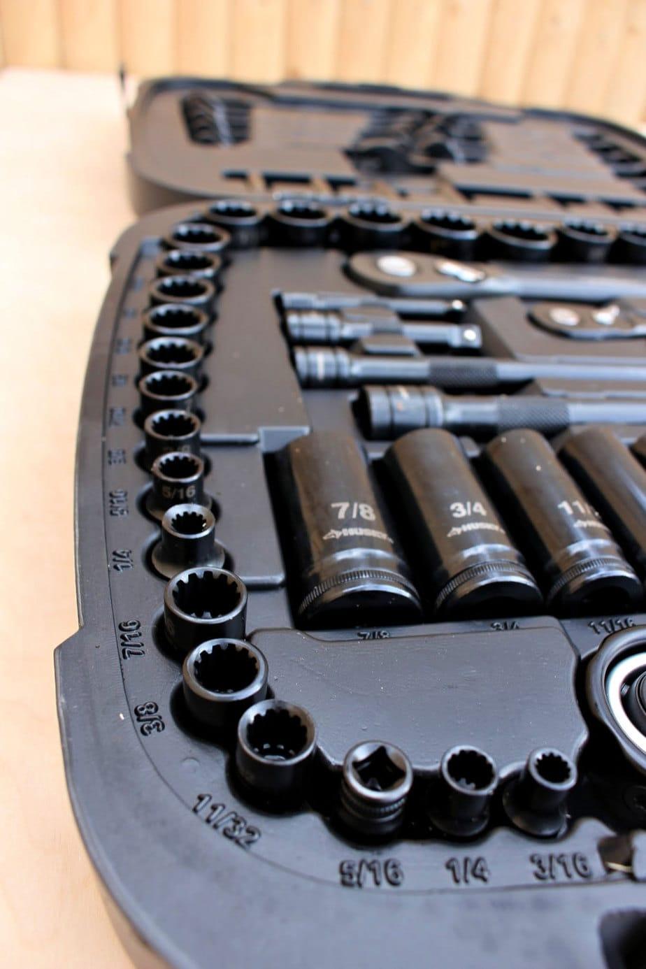 mechanics tool set case layout