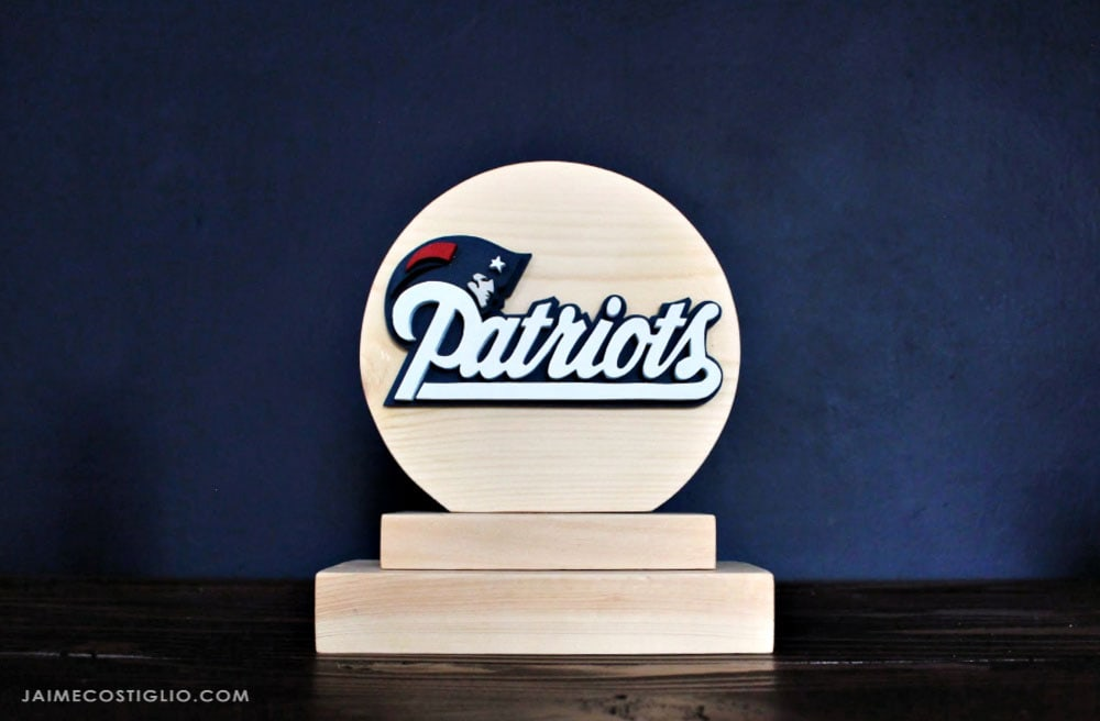 new england patriots logo bookend