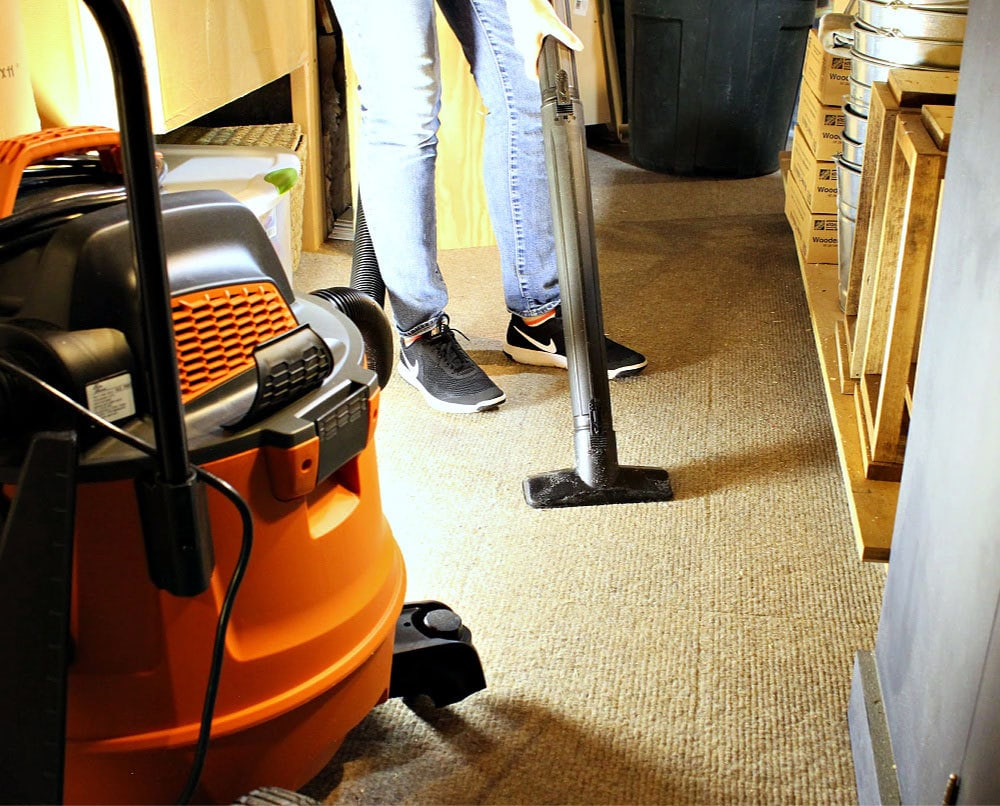 ridgid wet vac on carpet