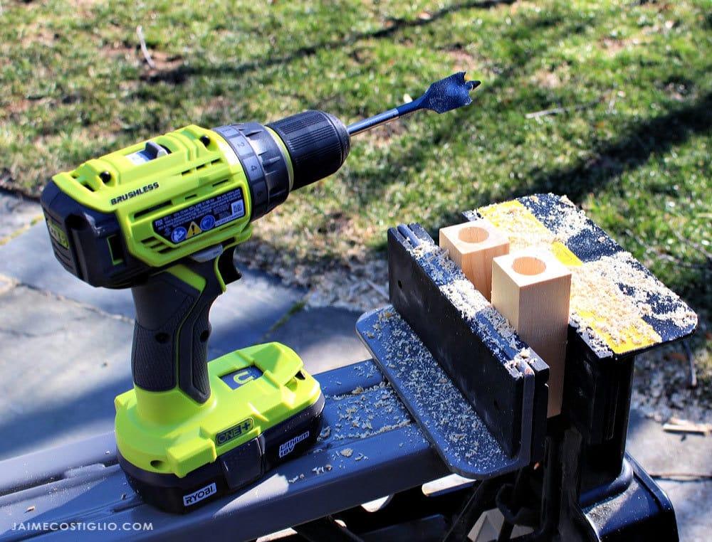 ryobi drill and bosch spade bit