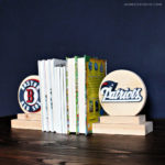 DIY Scrolled Bookends (Boston team logos)