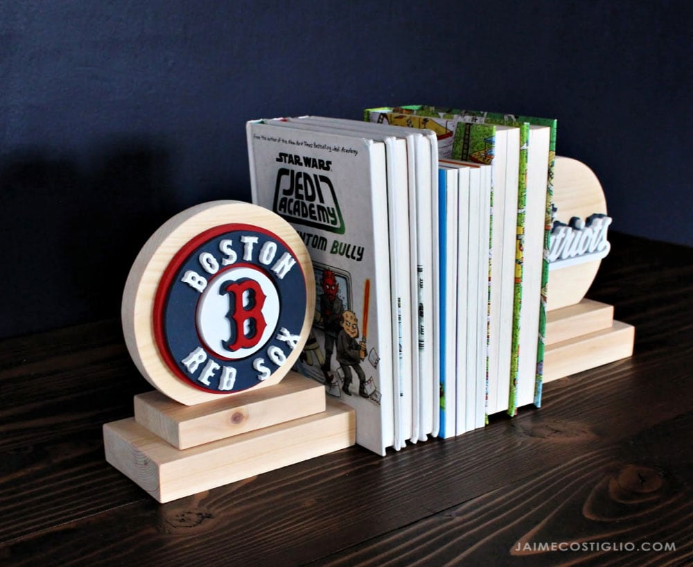 boston team logos on bookends