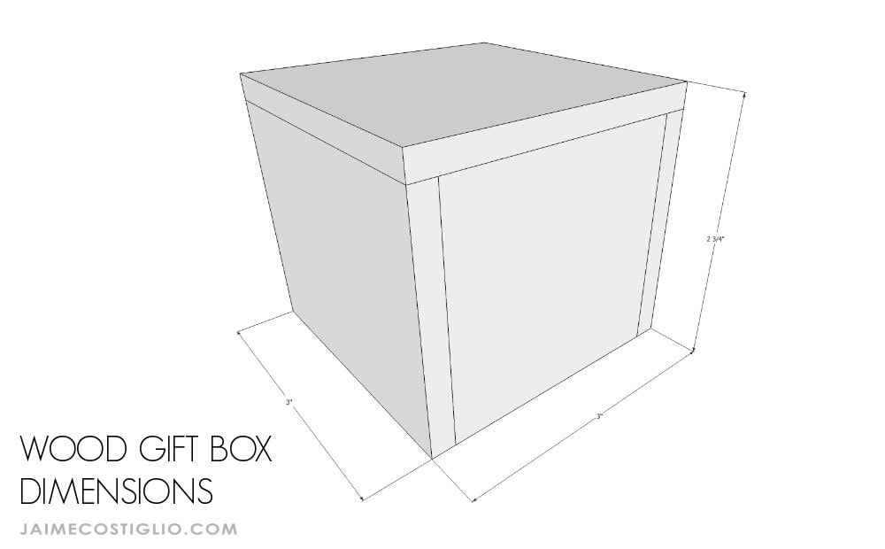 small wood gift box dimensions