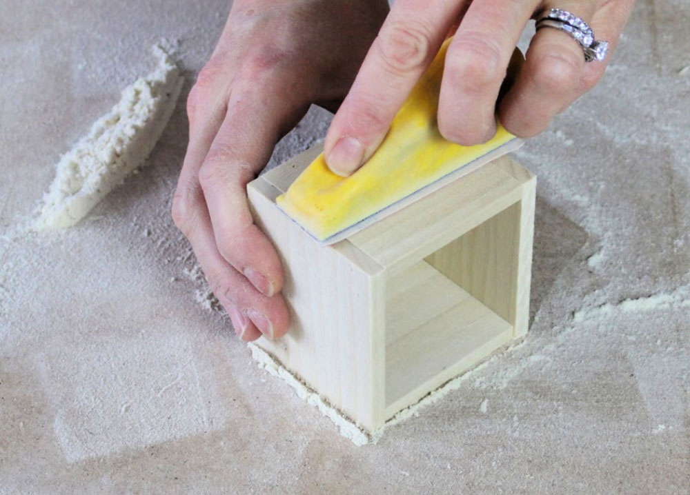 micro zip sanding wood box