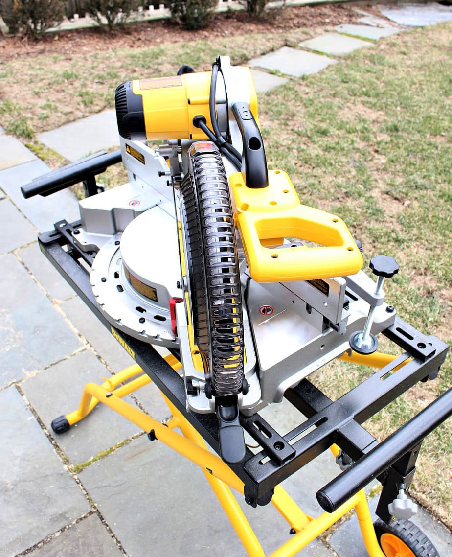 dewalt miter saw from above