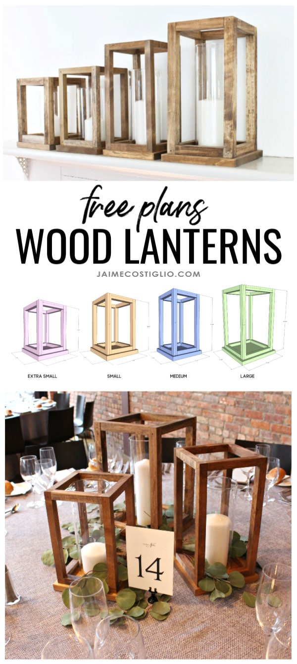 diy wood lanterns free plans