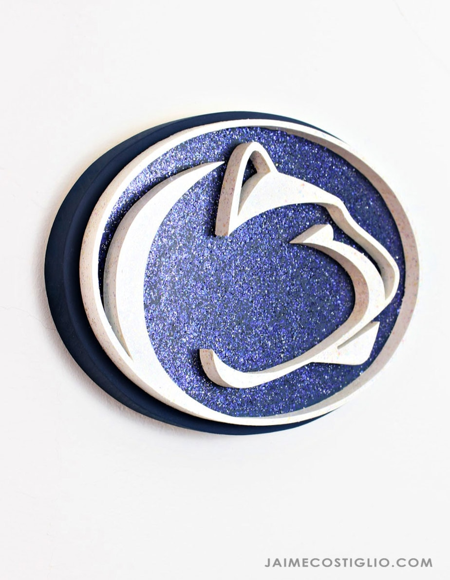 penn state logo with glitter