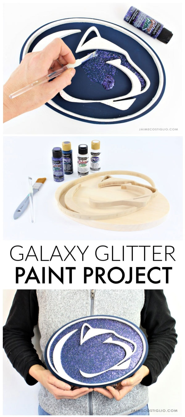 galaxy glitter paint project