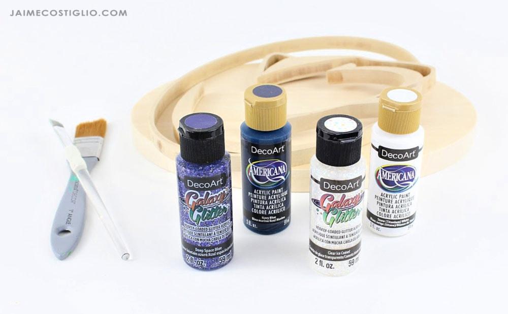 galaxy glitter paint