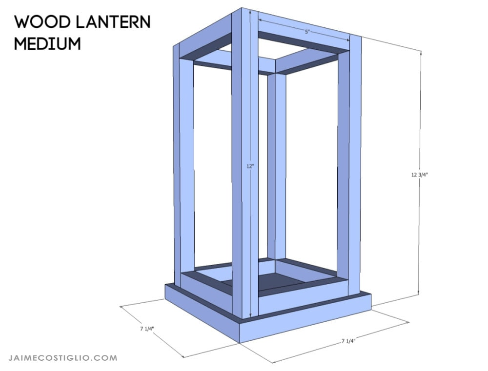 wood lantern medium size