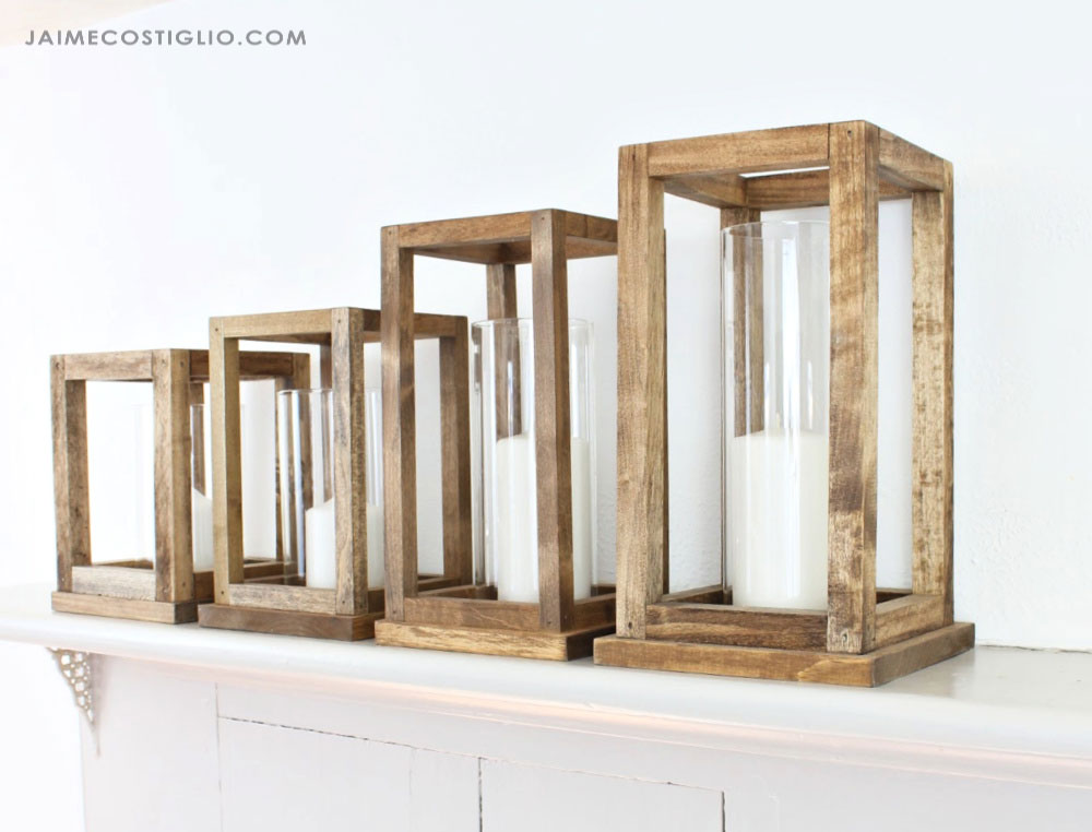 wood lanterns four sizes
