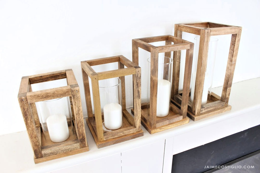 wood lanterns graduated sizes