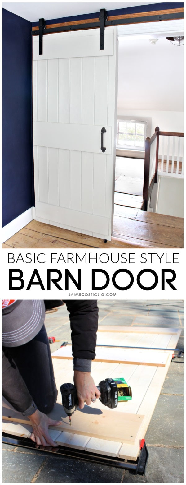 basic farmhouse style sliding barn door