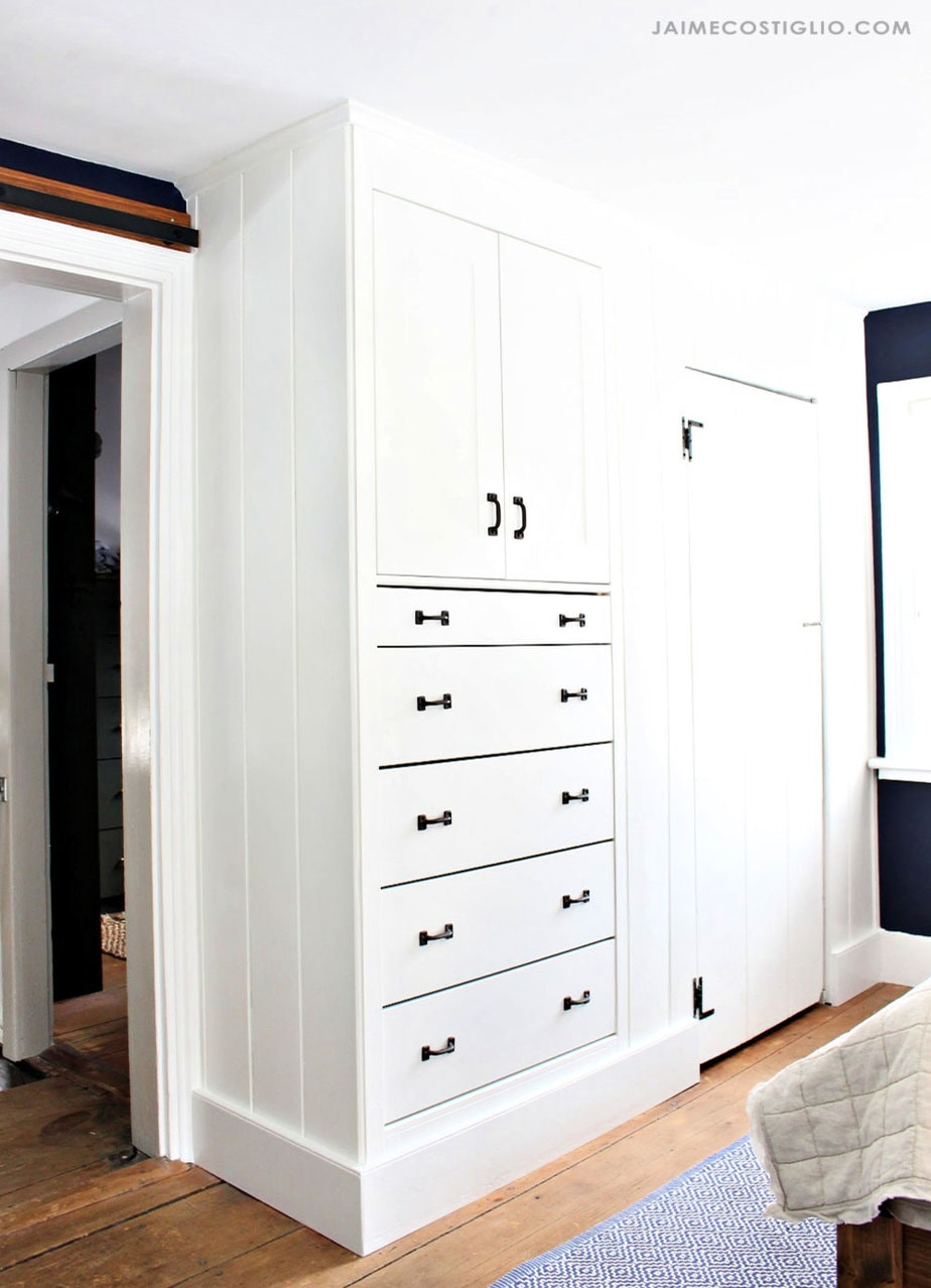 diy built in dresser
