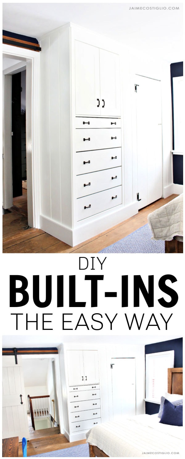 diy built ins the easy way