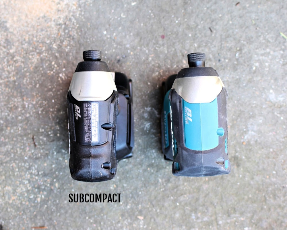 makita subcompact size comparison