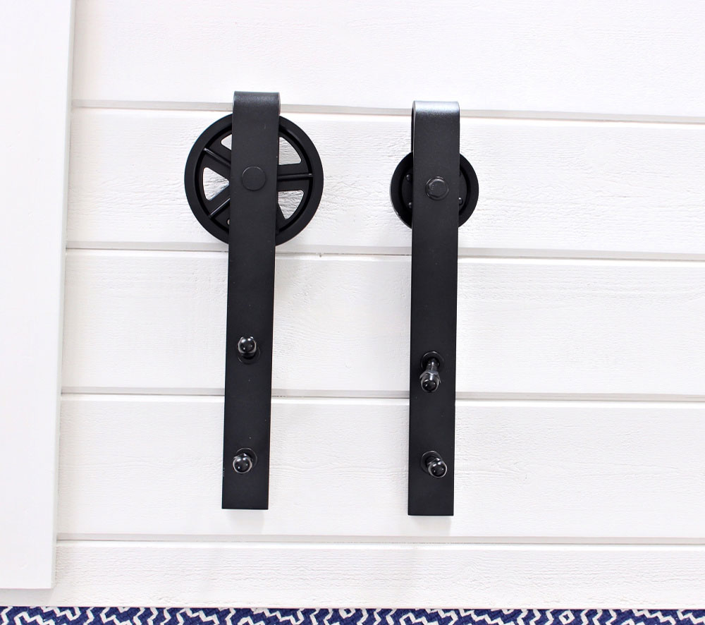 modified sliding barn door hardware
