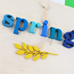 Spring Sign with new Americana paint colors