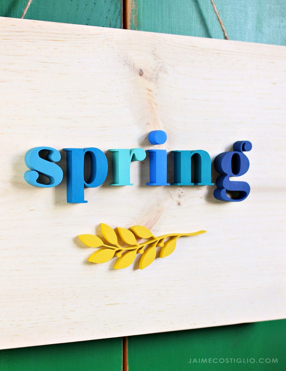 spring decor simple sign