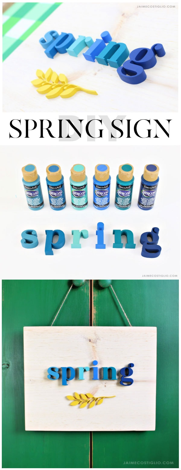 spring sign new acrylic paint colors