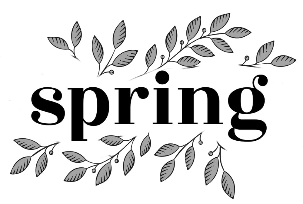 spring sign graphic design