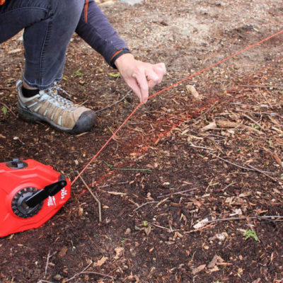 snapping a chalk line