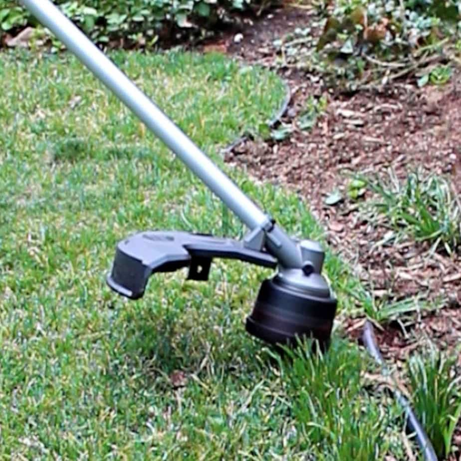 string trimmer edging grass