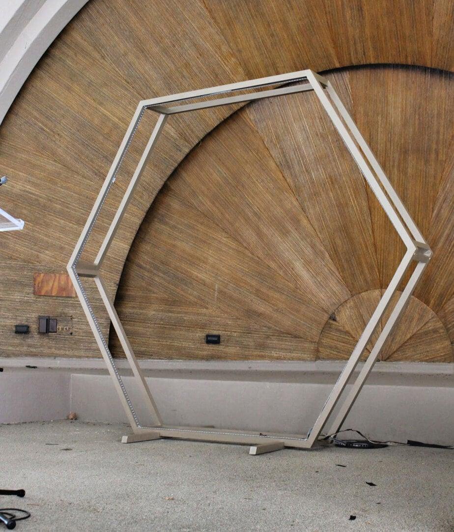 open frame hexagon