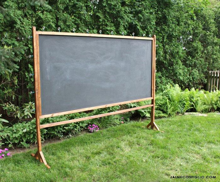 self standing chalkboard