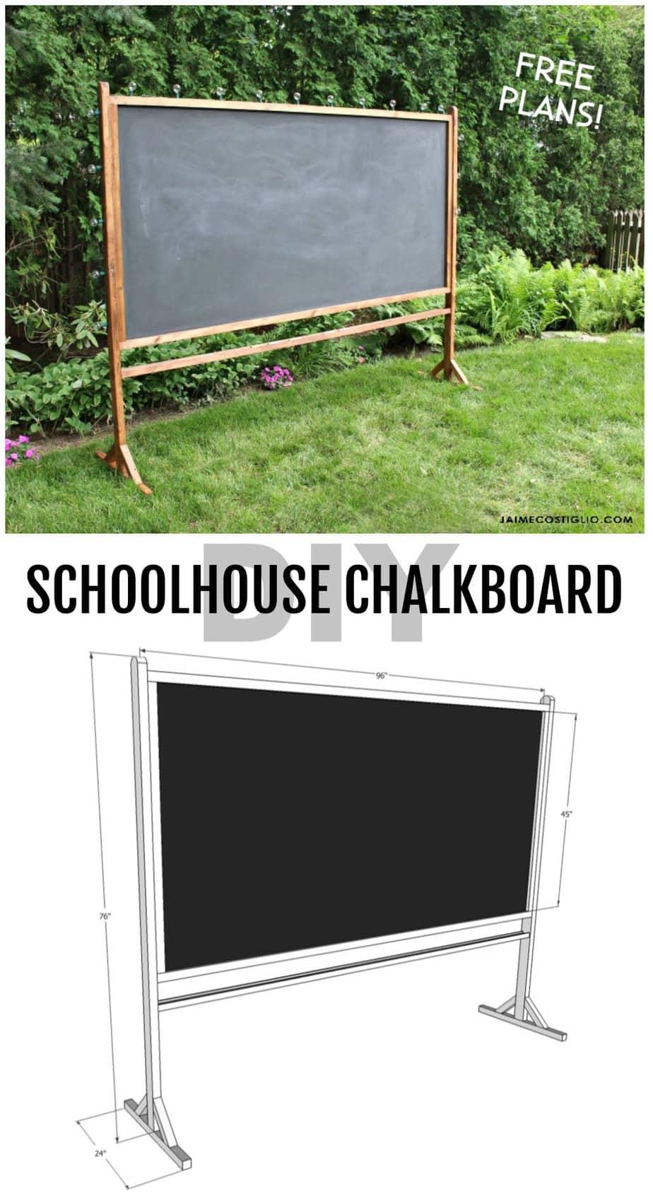 free plans schoolhouse chalkboard