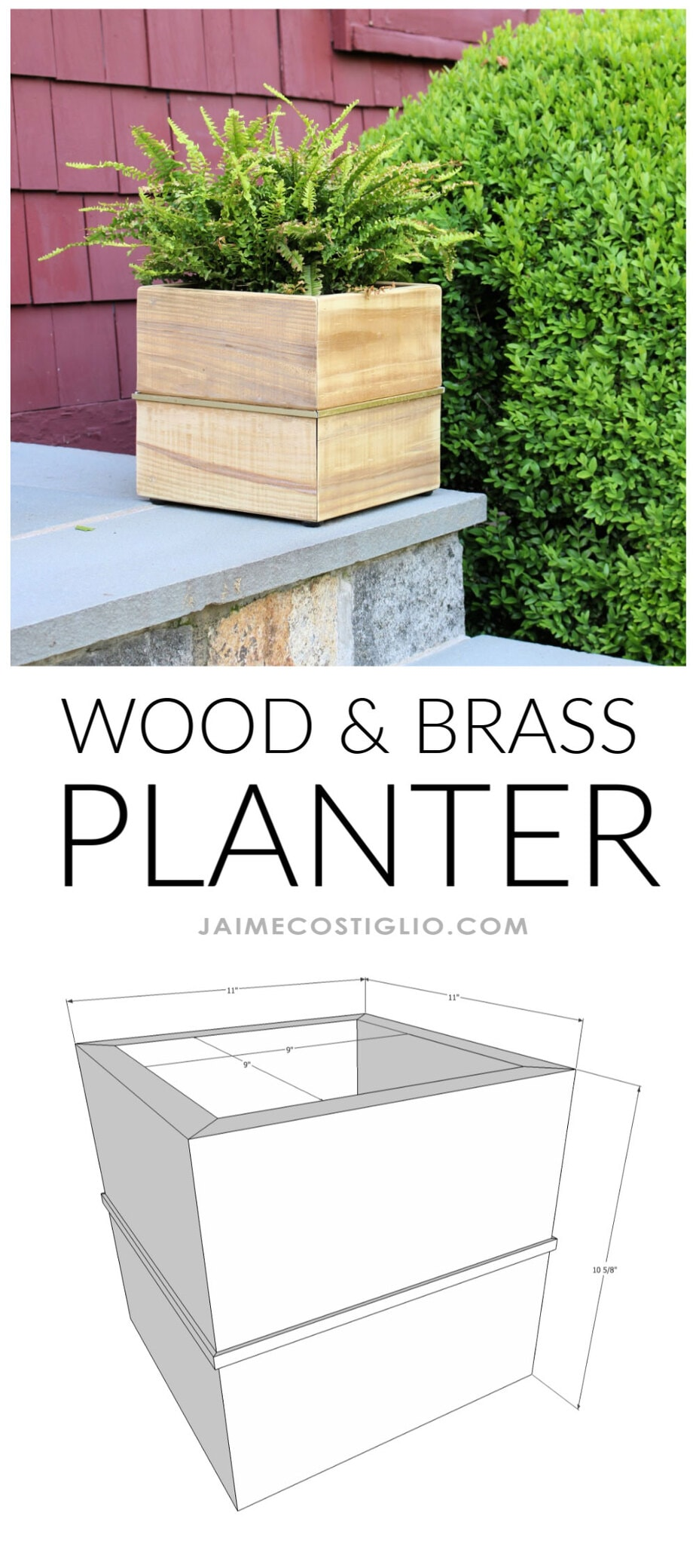 free plans wood and brass planter