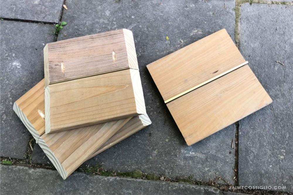 wood planter side panels