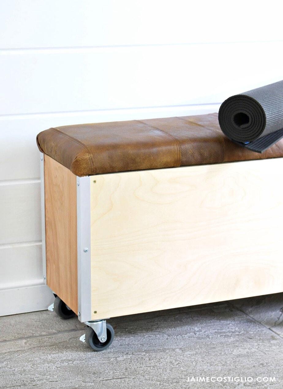 mobile workout bench with storage