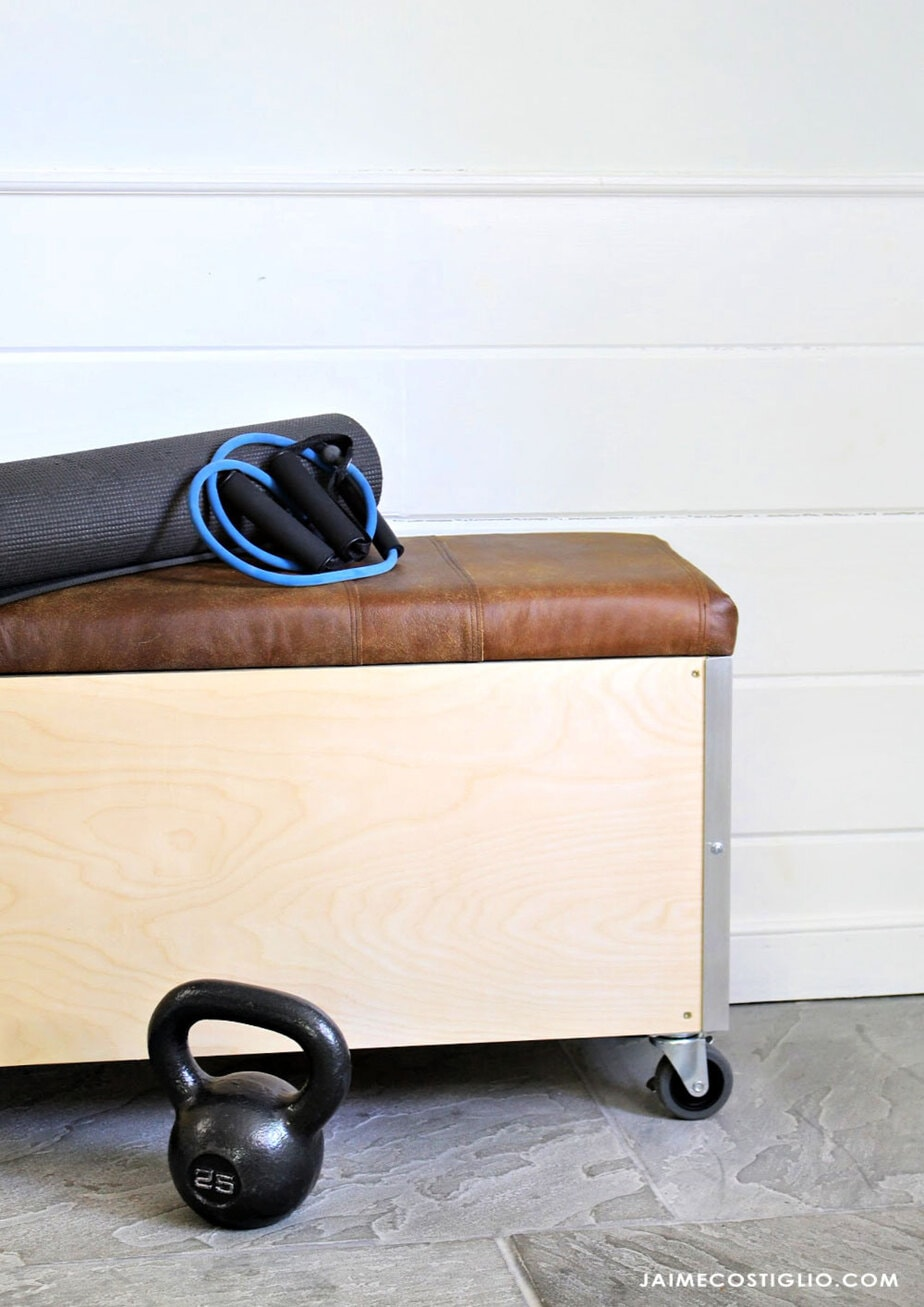 leather workout bench