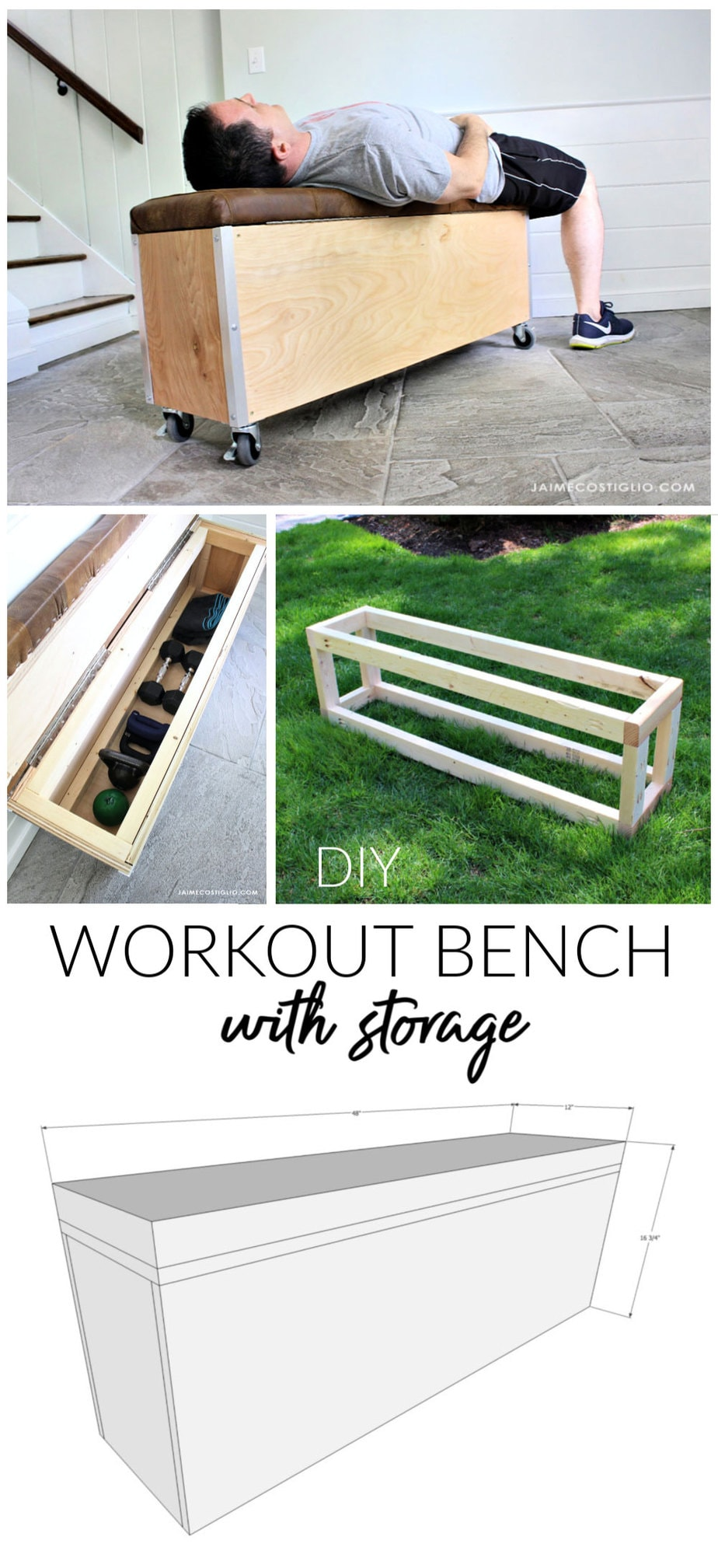workout bench with storage free plans
