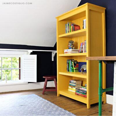 diy cottage bookshelf