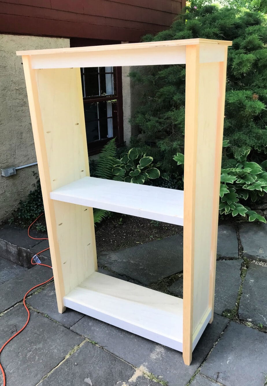 cottage bookshelf without backing