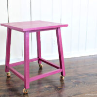 metallics painted side table