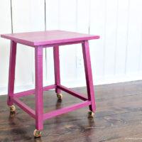metallics painted side table