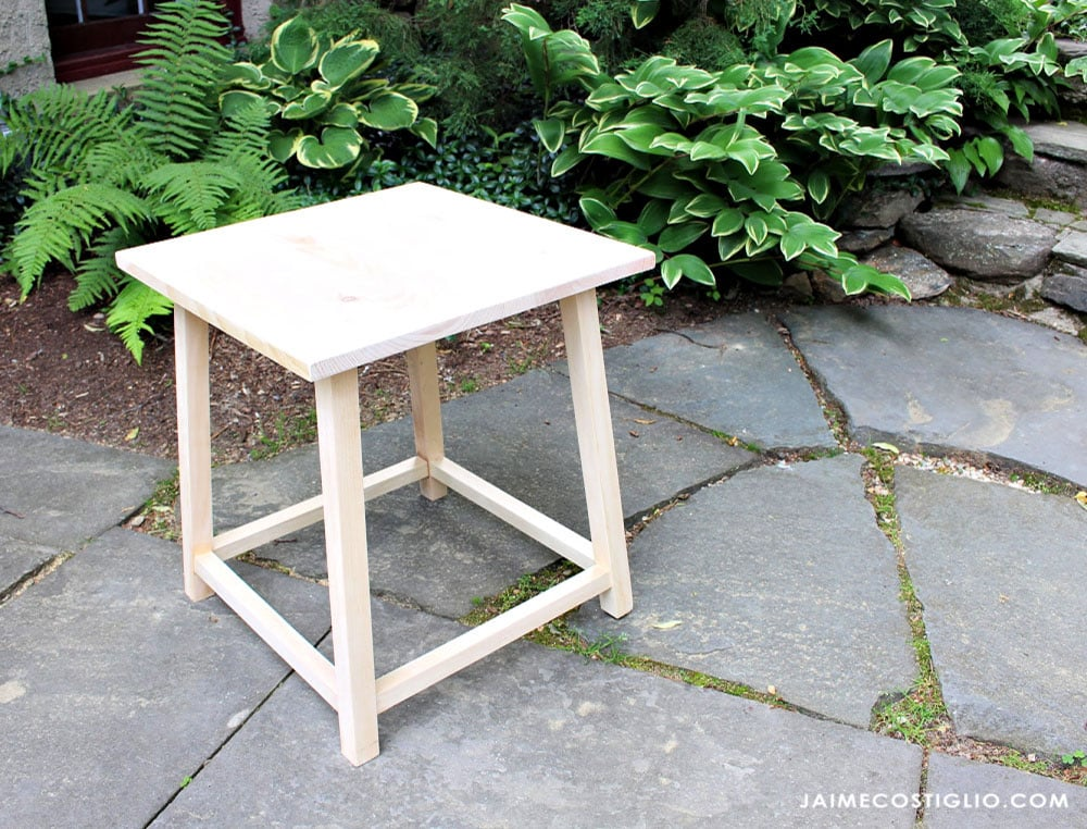 side table built