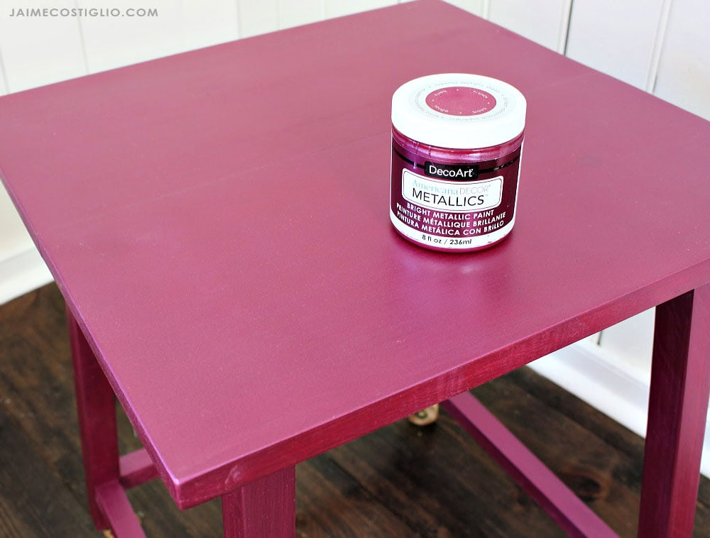 berry metallics painted wood