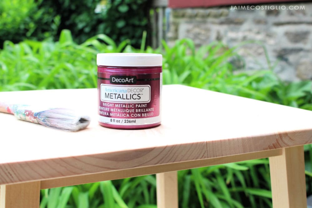 decoart metallics berry acrylic paint