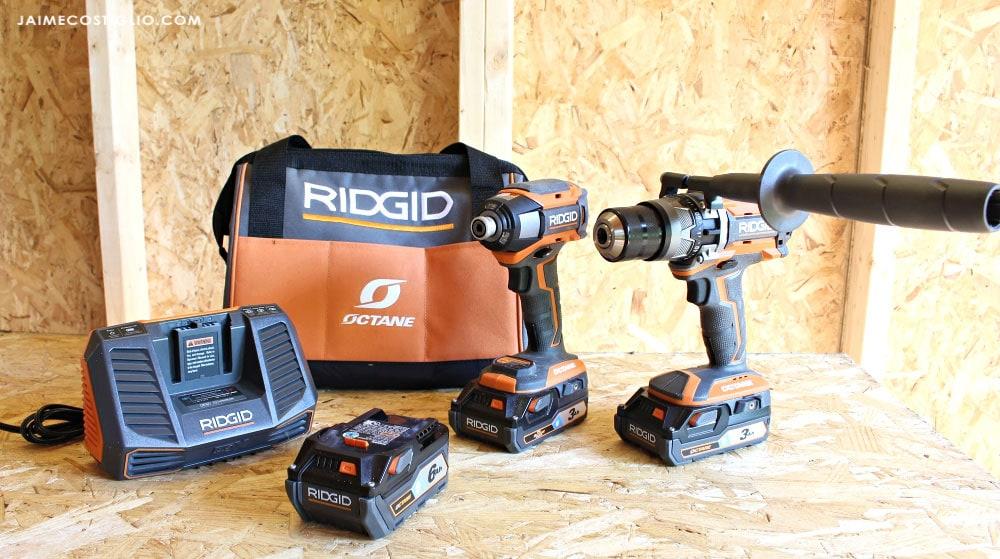 ridgid hammer drill & impact driver kit