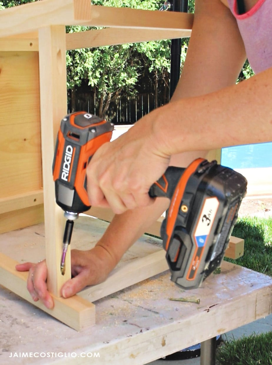 ridgid impact driver in pocket hole